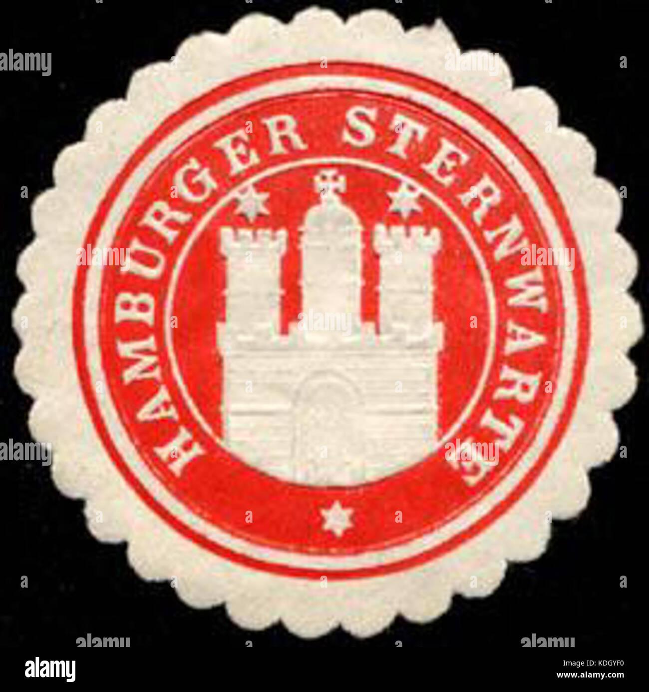 Siegelmarke Hamburger Sternwarte W0232590 Stock Photo