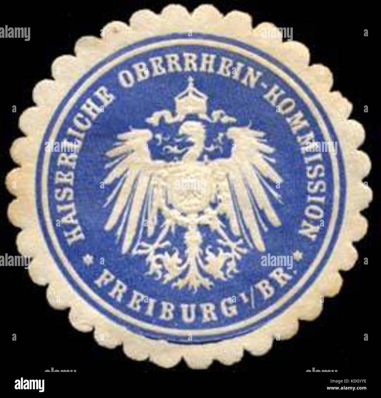 Siegelmarke Kaiserliche Oberrhein   Kommission   Freiburg im Breisgau W0234859 Stock Photo