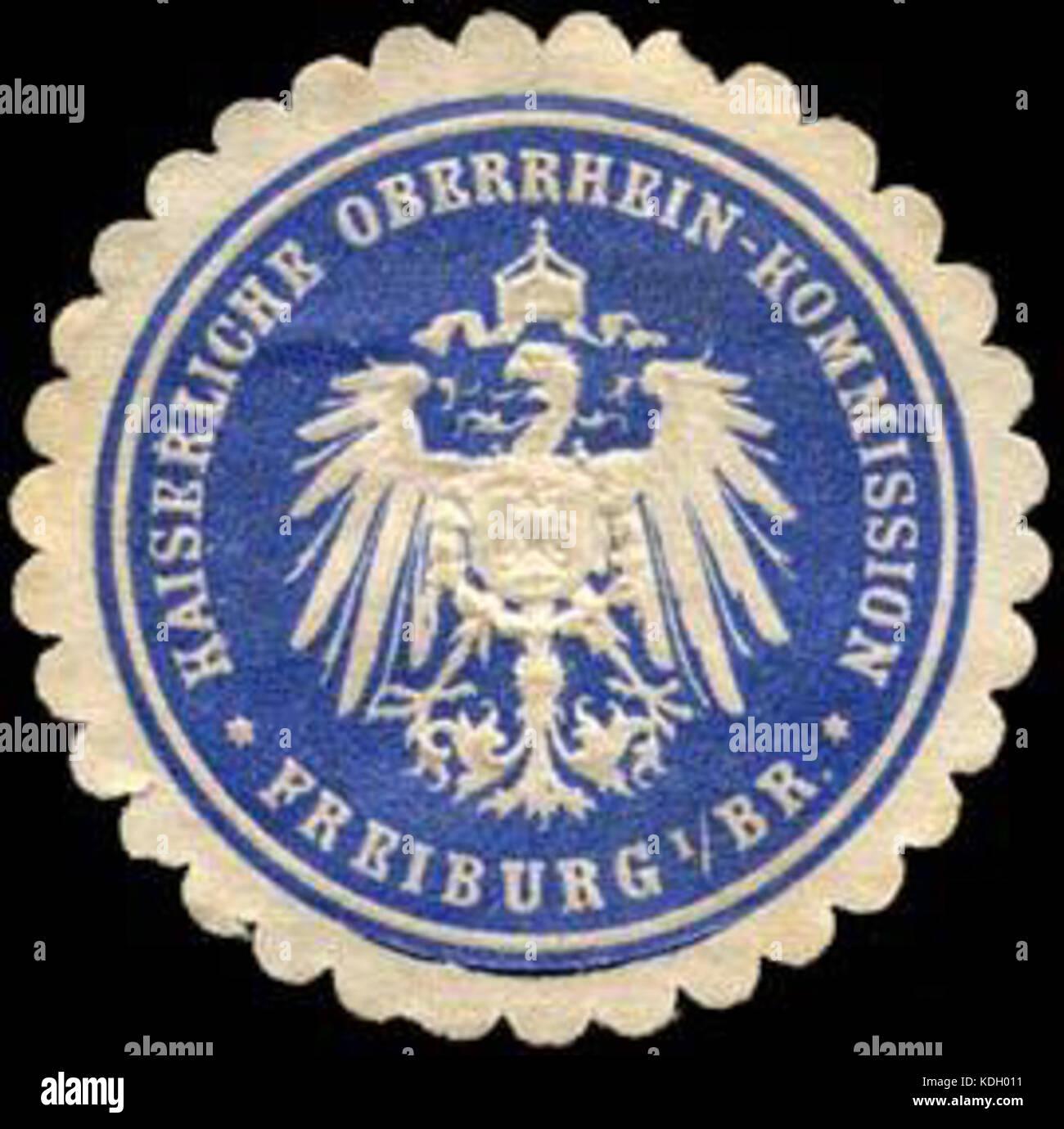 Siegelmarke Kaiserliche Oberrhein   Kommission   Freiburg im Breisgau W0235056 Stock Photo