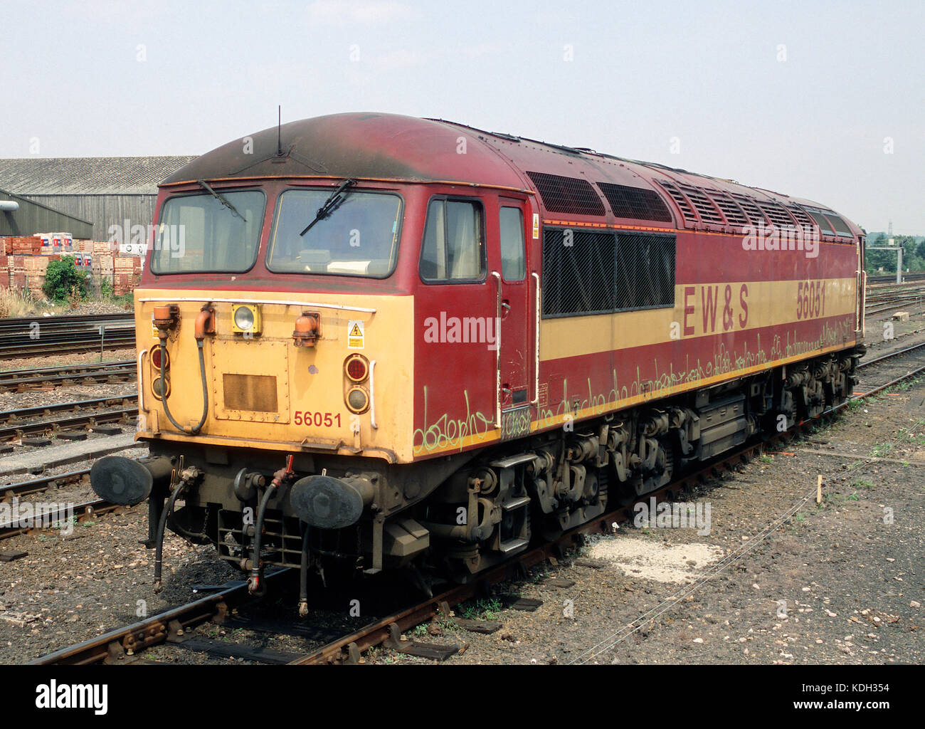 Class 56 locomotive at Eastleigh - Stock Image