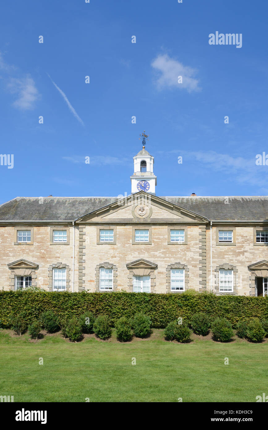 The Neoclassical Style Stable Block (1735) at Compton Verney House, Kineton, Warwickshire, England - Stock Image