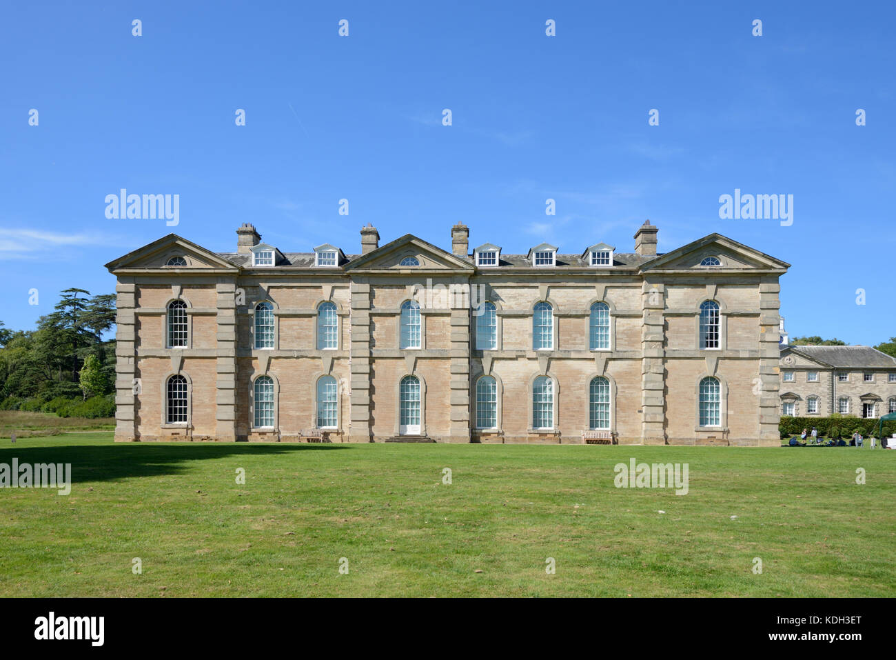 Southern Facade of Compton Verney House (1714), a Country House, at Kineton, Warwickshire, England - Stock Image
