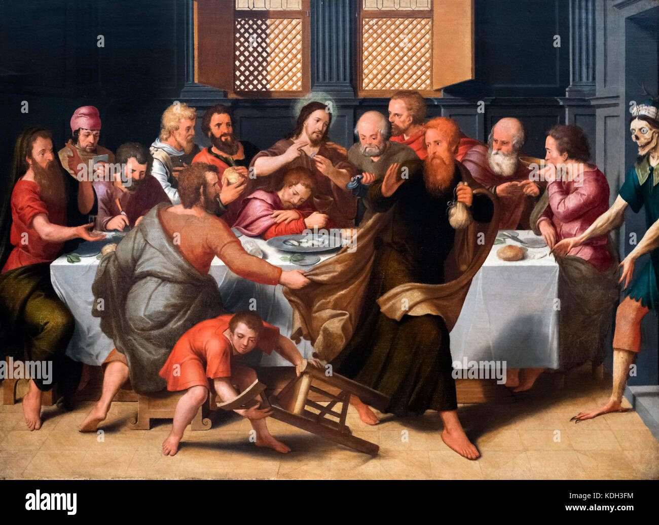 The Last Supper by Pieter Pourbus (1523/4-1584), oil on panel, 1548 - Stock Image
