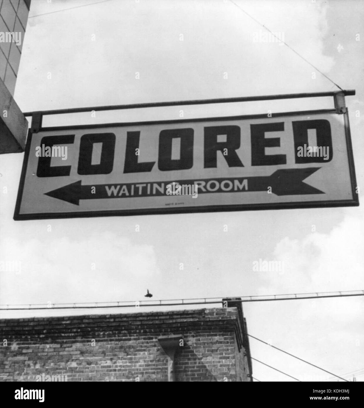 Racial segregation was commonplace in the South until the 1960s. - Stock Image