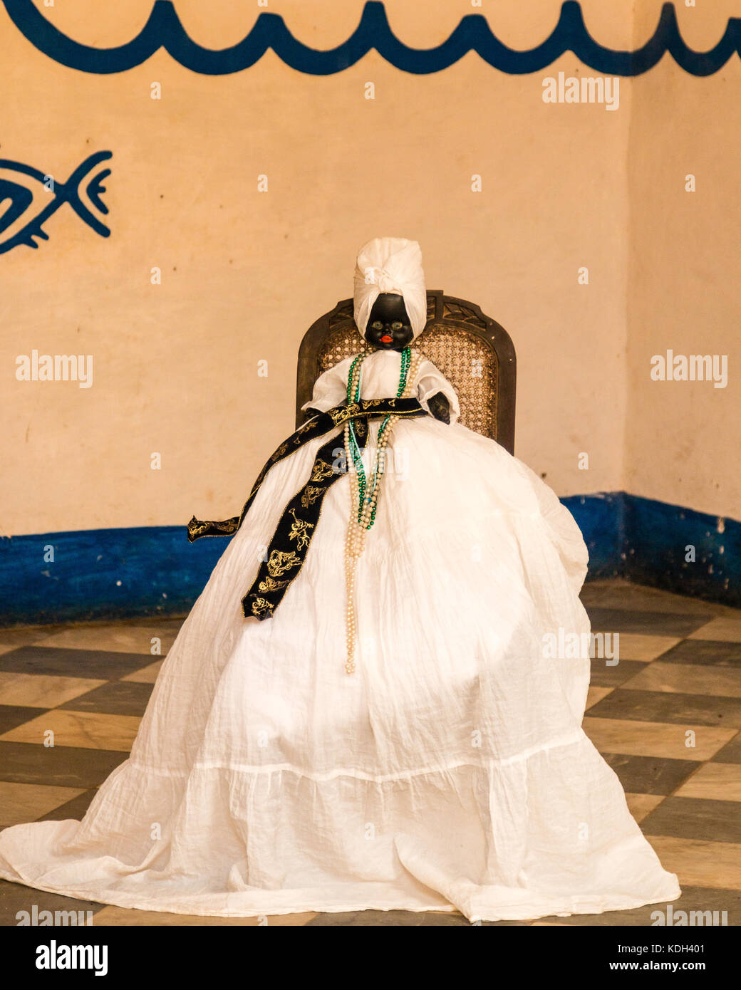 Santeria doll in the Santería Temple in Trinidad Cuba, Caribeean - Stock Image