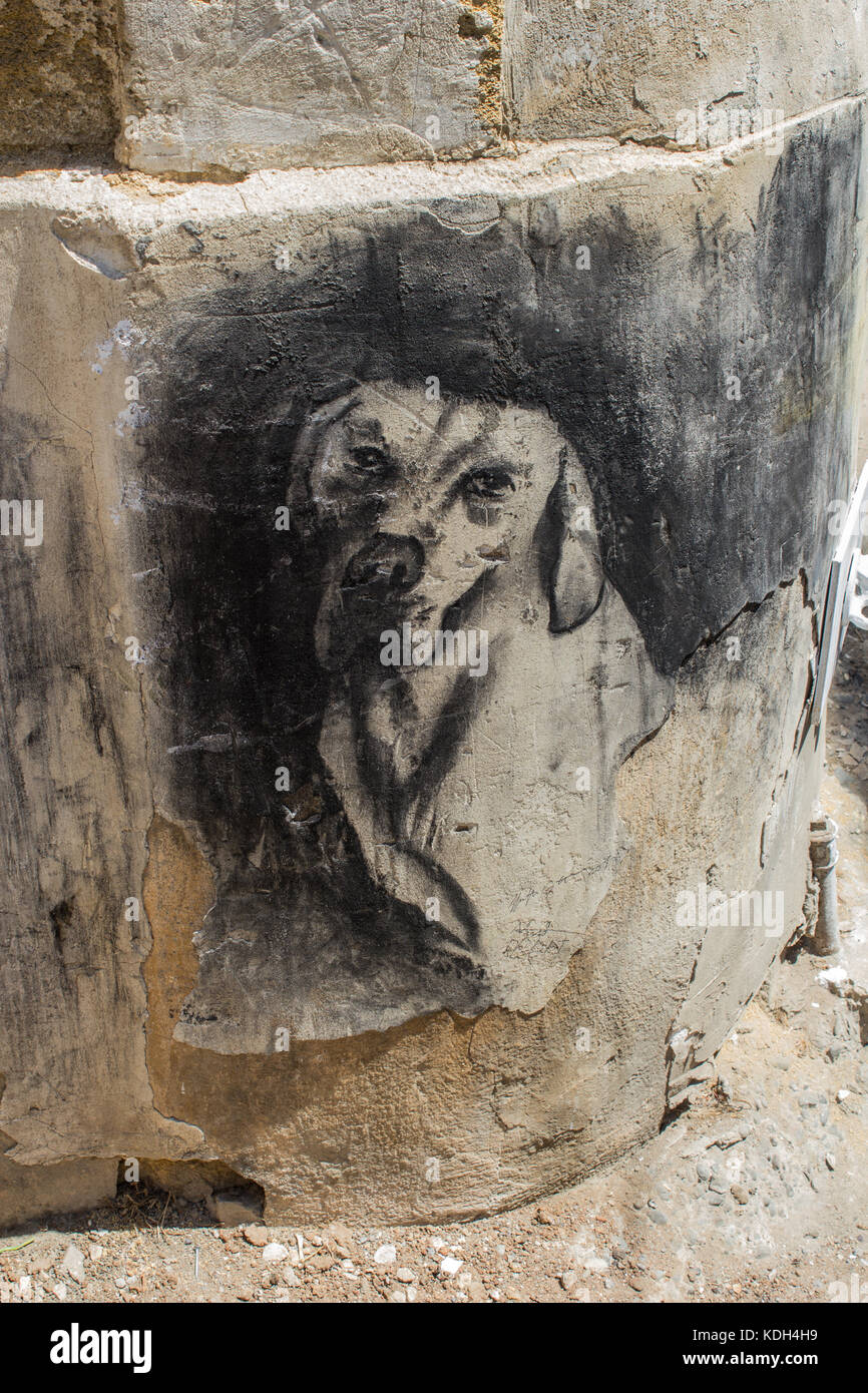 The Cyprus's murales - Stock Image