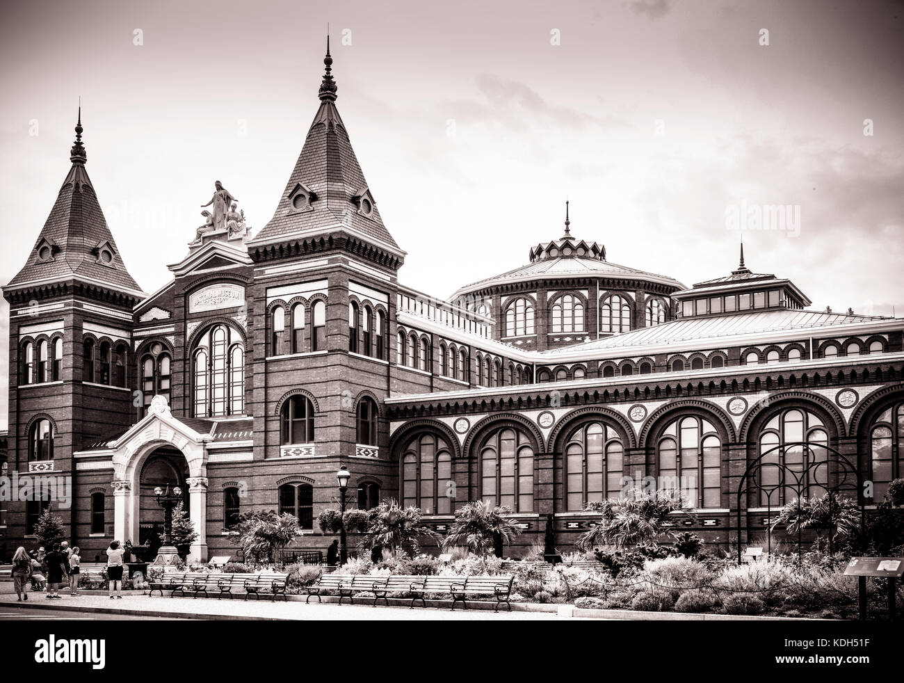 The Smithsonian's Arts and Industries building on the National Mall in Washington, DC, USA - Stock Image