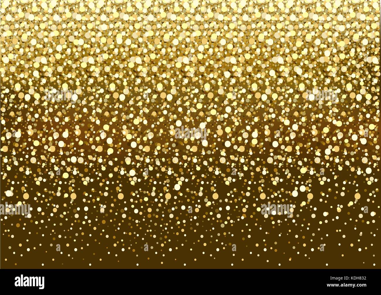 Gold Glitter Background - Stock Vector