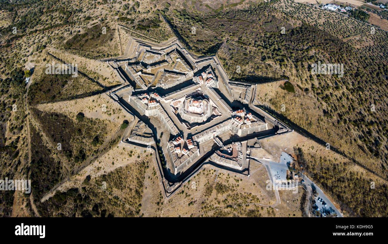 Forte da Graca, Elvas,  Alentejo, Portugal, (Bastion fort or star fort) - Stock Image