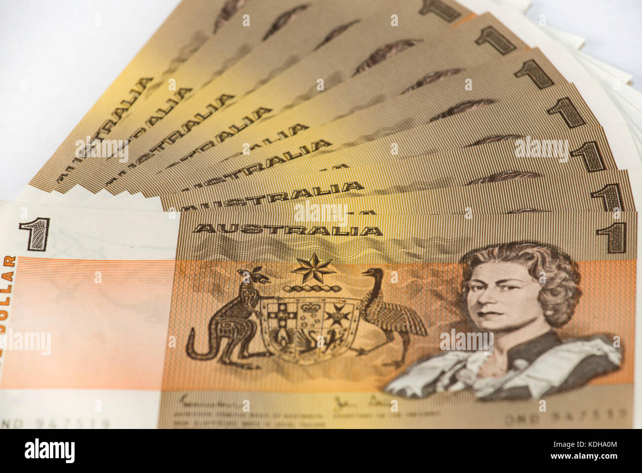 No longer legal tender, this is the old one dollar note, introduced in 1966 and replaced in 1984 by the one dollar - Stock Image