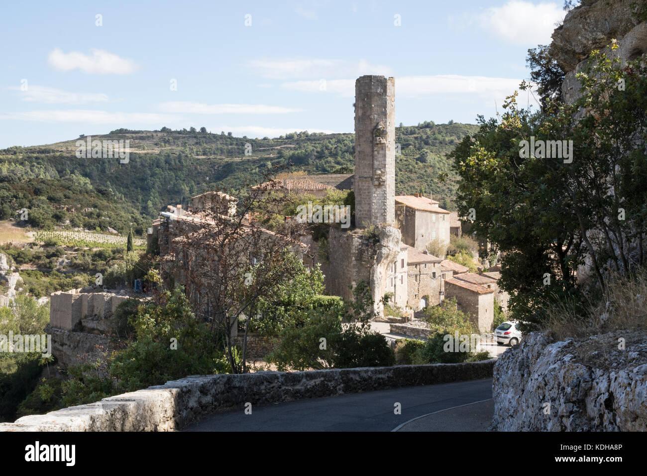 Minerve, Languedoc, France, Candela Tower, Tour Candela - Stock Image