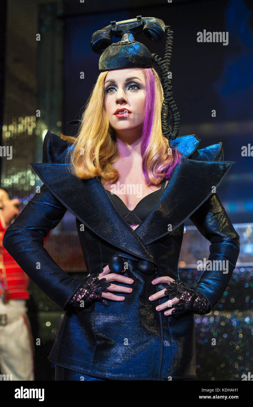 Lady Gaga wax figure in Madame Tussaud's museum in London - Stock Image