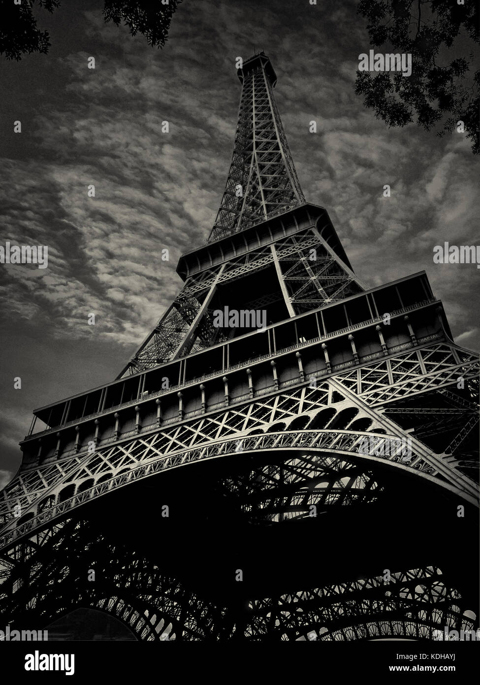 Eiffel Tower A Black White Photograph Paris France Stock Photo Alamy