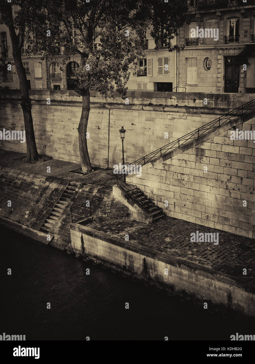 Quai d'Orléans on the Ile Saint-Louis Paris France. Also known as Swann's Way - Stock Image