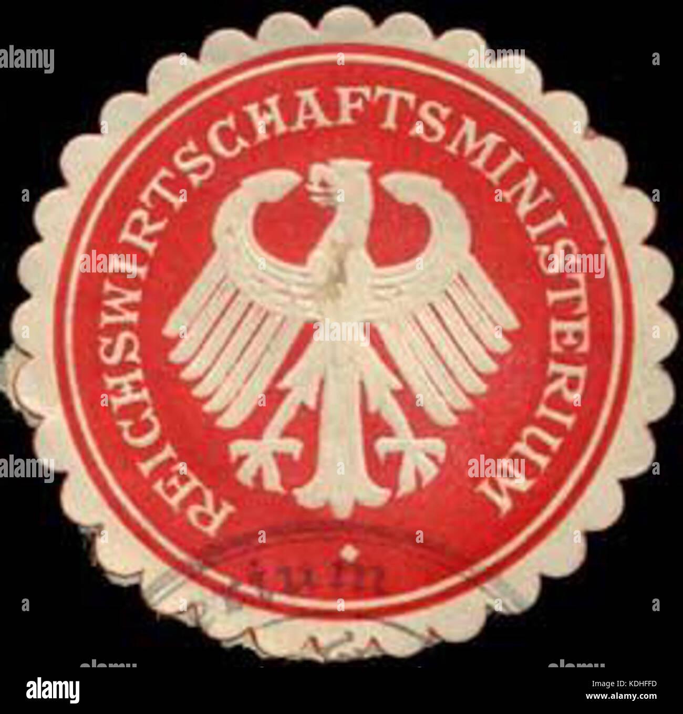 Siegelmarke Reichswirtschaftsministerium W0296986 Stock Photo