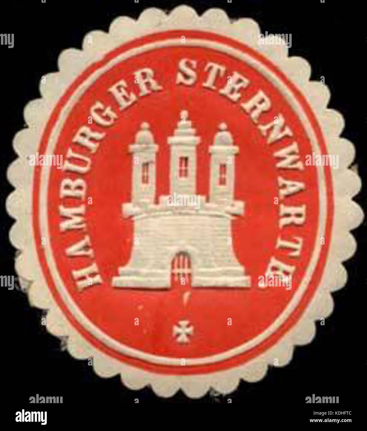 Siegelmarke Hamburger Sternwarte W0307675 Stock Photo