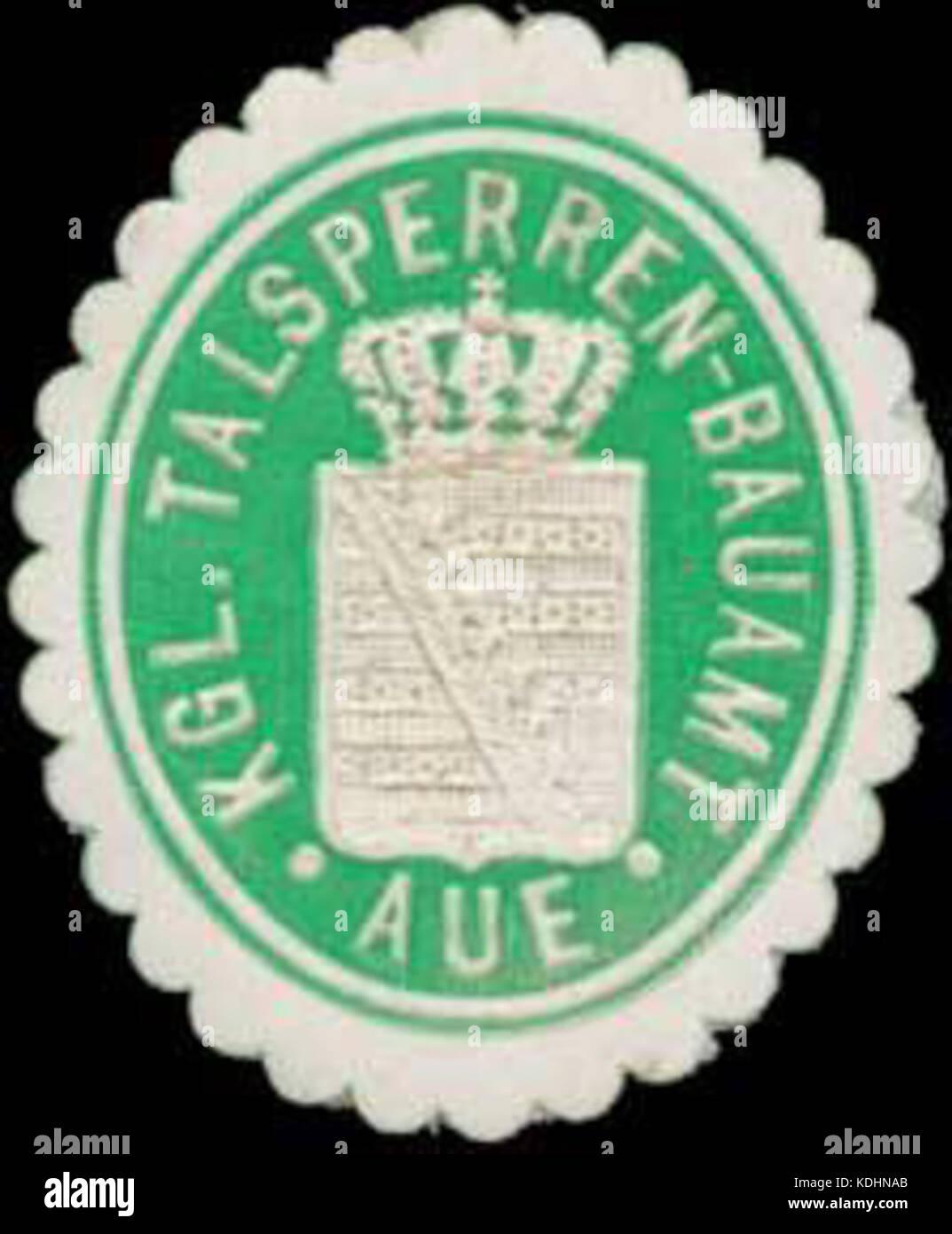 Siegelmarke K. Talsperren Bauamt Aue W0350427 Stock Photo