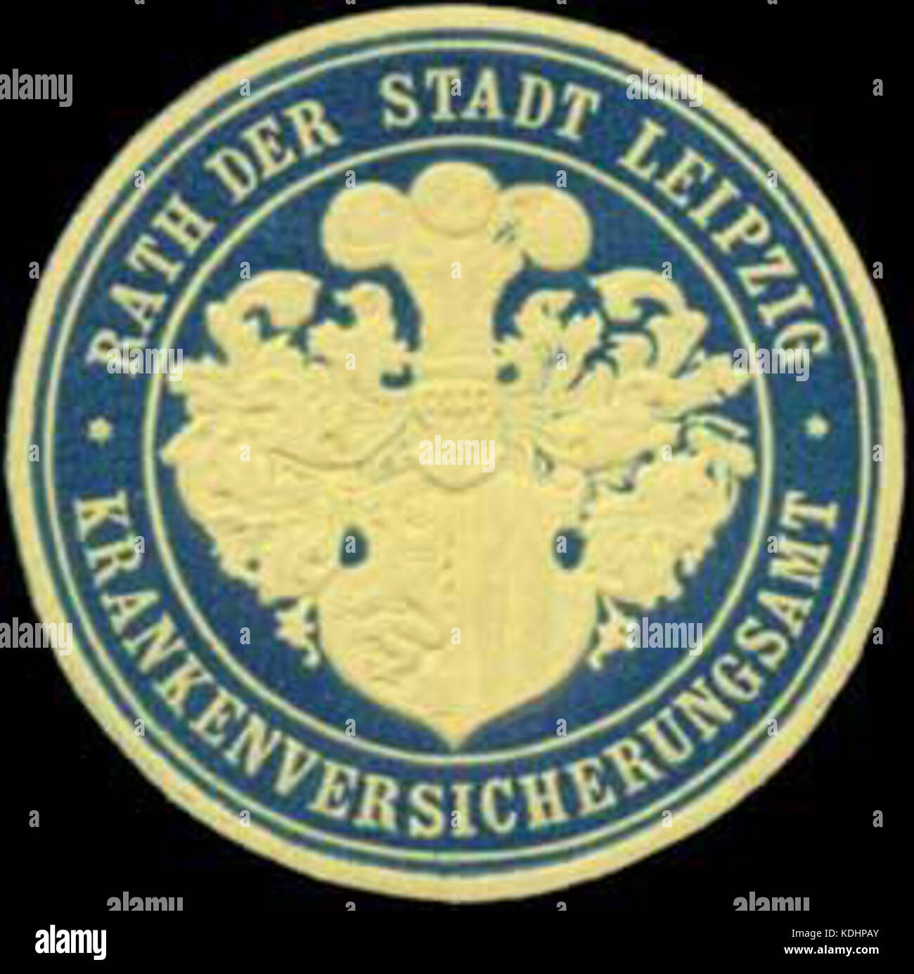 Siegelmarke Krankenversicherungsamt W0356501 Stock Photo