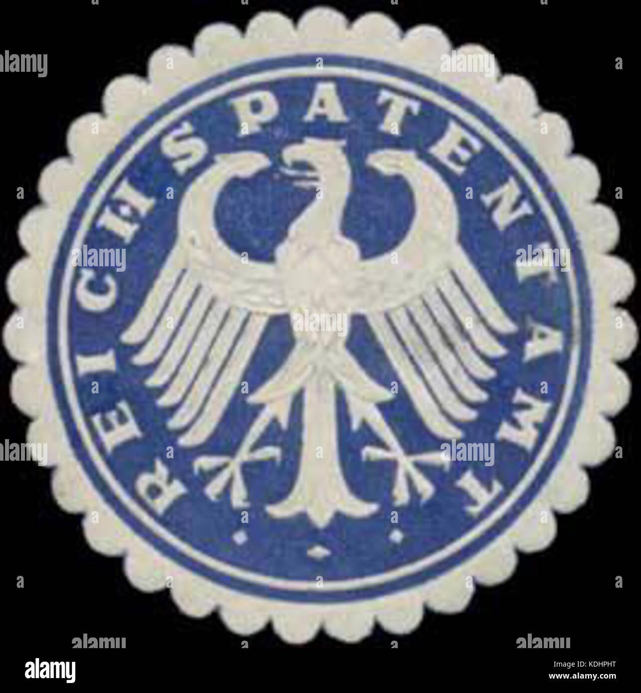 Siegelmarke Reichspatentamt W0360192 Stock Photo