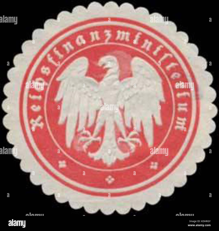 Siegelmarke Reichsfinanzministerium W0368037 Stock Photo