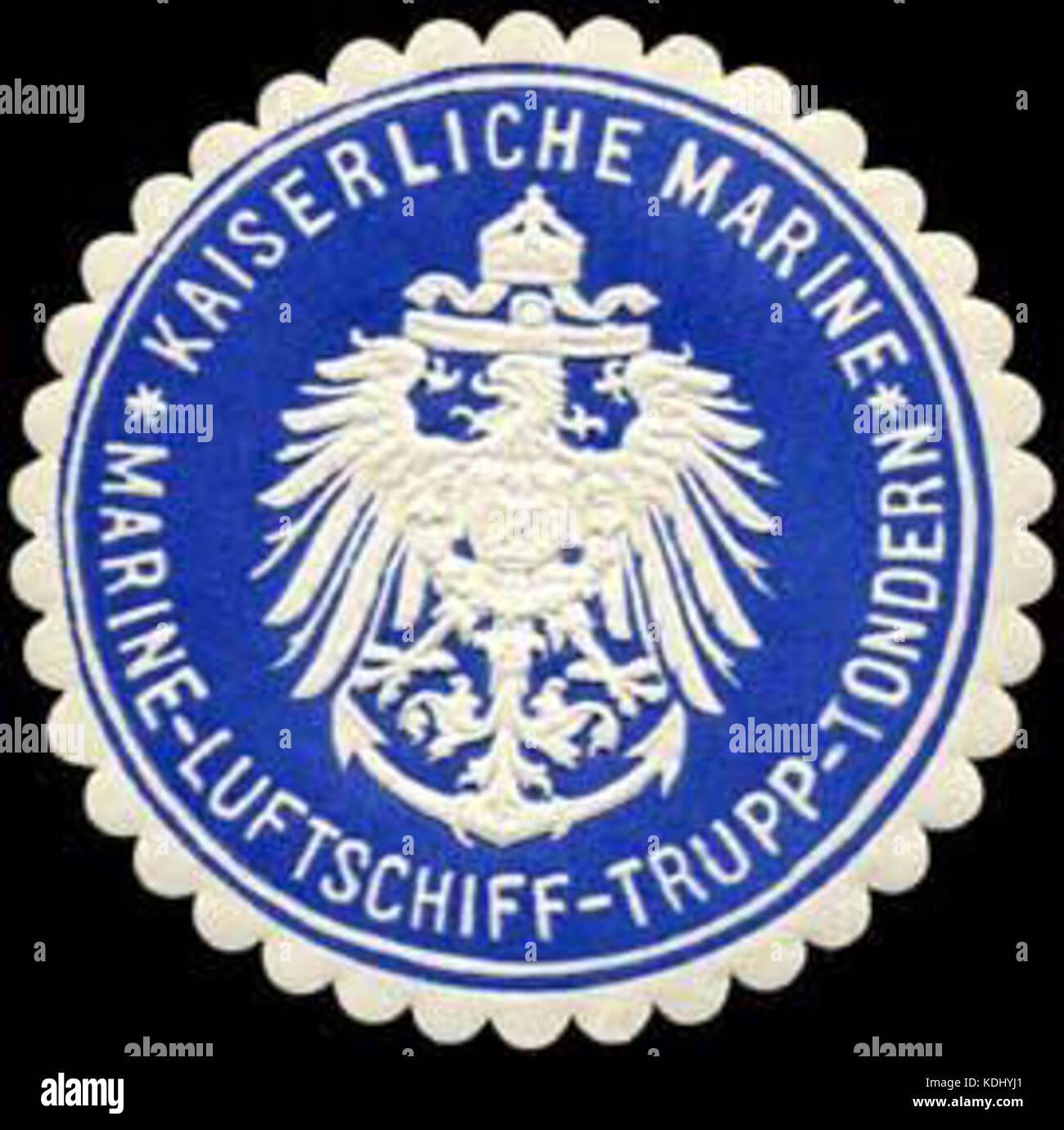 Siegelmarke Kaiserliche Marine   Marine   Luftschiff   Trupp   Tondern W0245580 - Stock Image