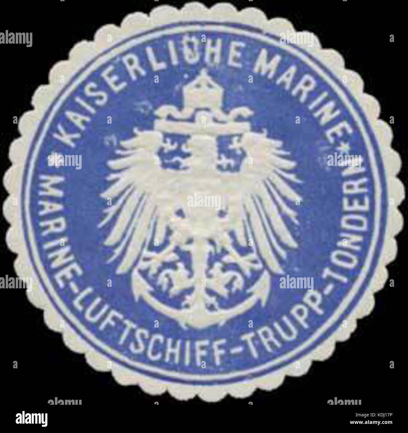 Siegelmarke K. Marine Marine Luftschiff Trupp Tondern W0337709 - Stock Image
