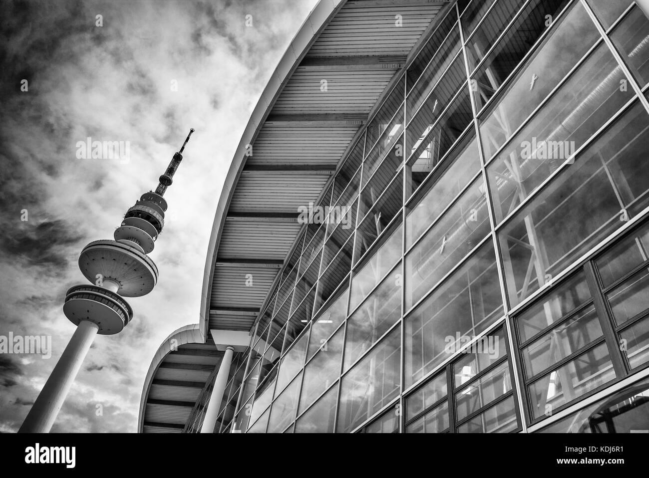 Hamburg Messe und Fernsehturm - Stock Image