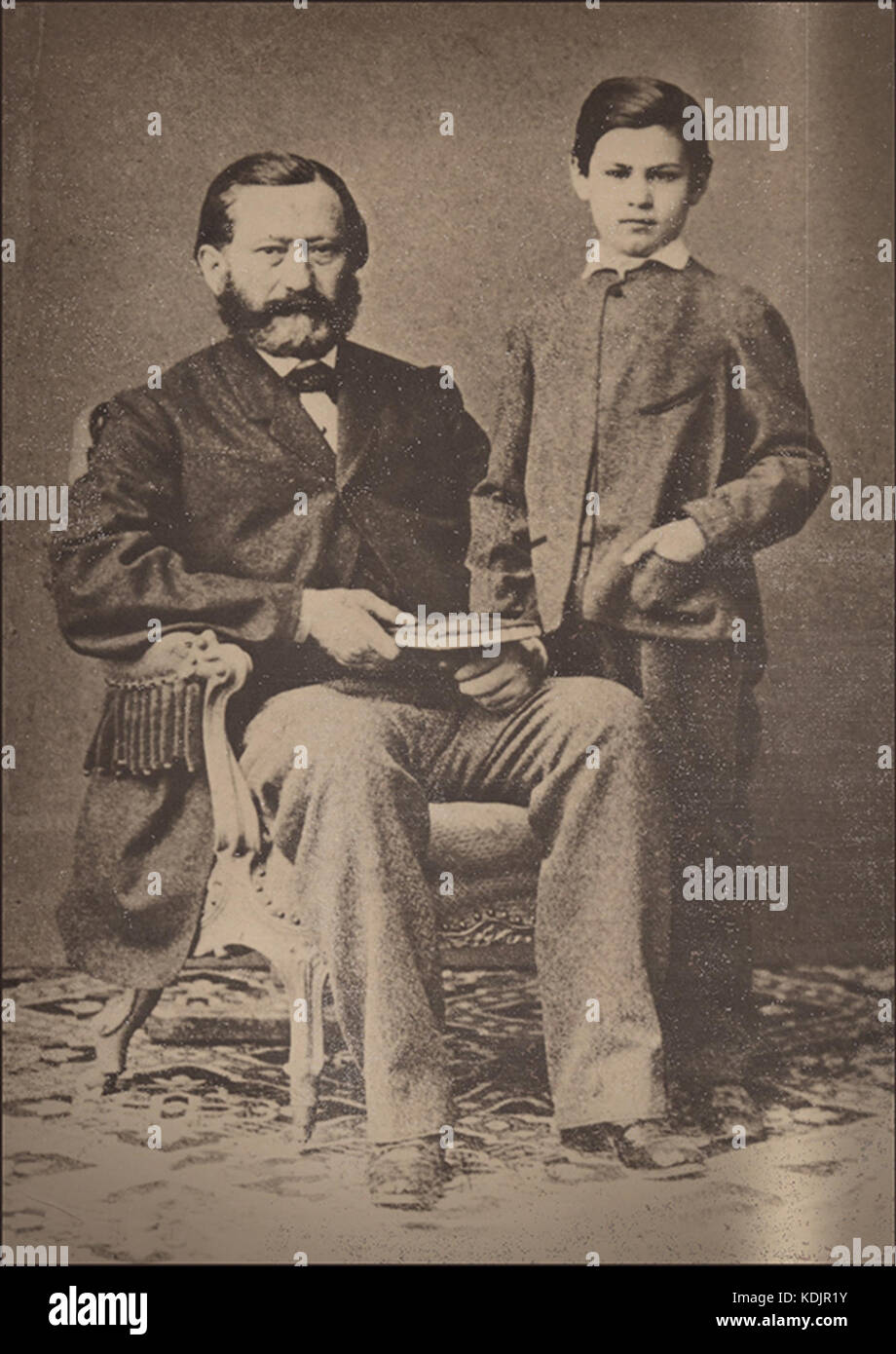 Sigmund Freud as a child with his father - Stock Image