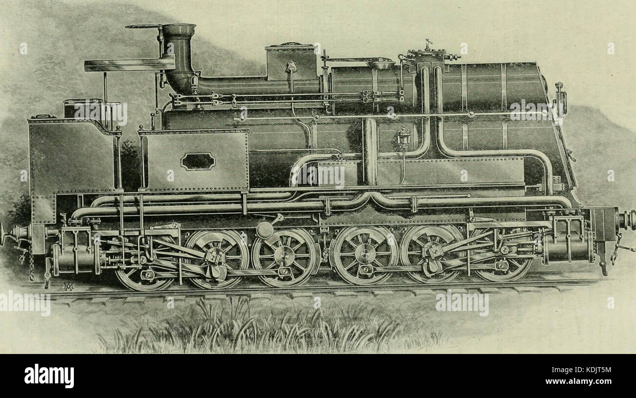 Locomotive engineering   a practical journal of railway motive power and rolling stock (1898) (14780959813) Stock Photo