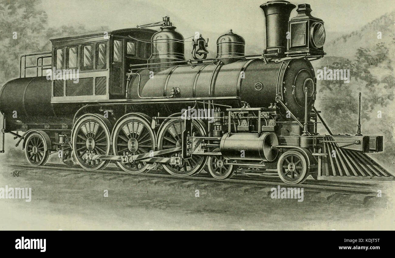 Locomotive engineering   a practical journal of railway motive power and rolling stock (1898) (14761259085) Stock Photo