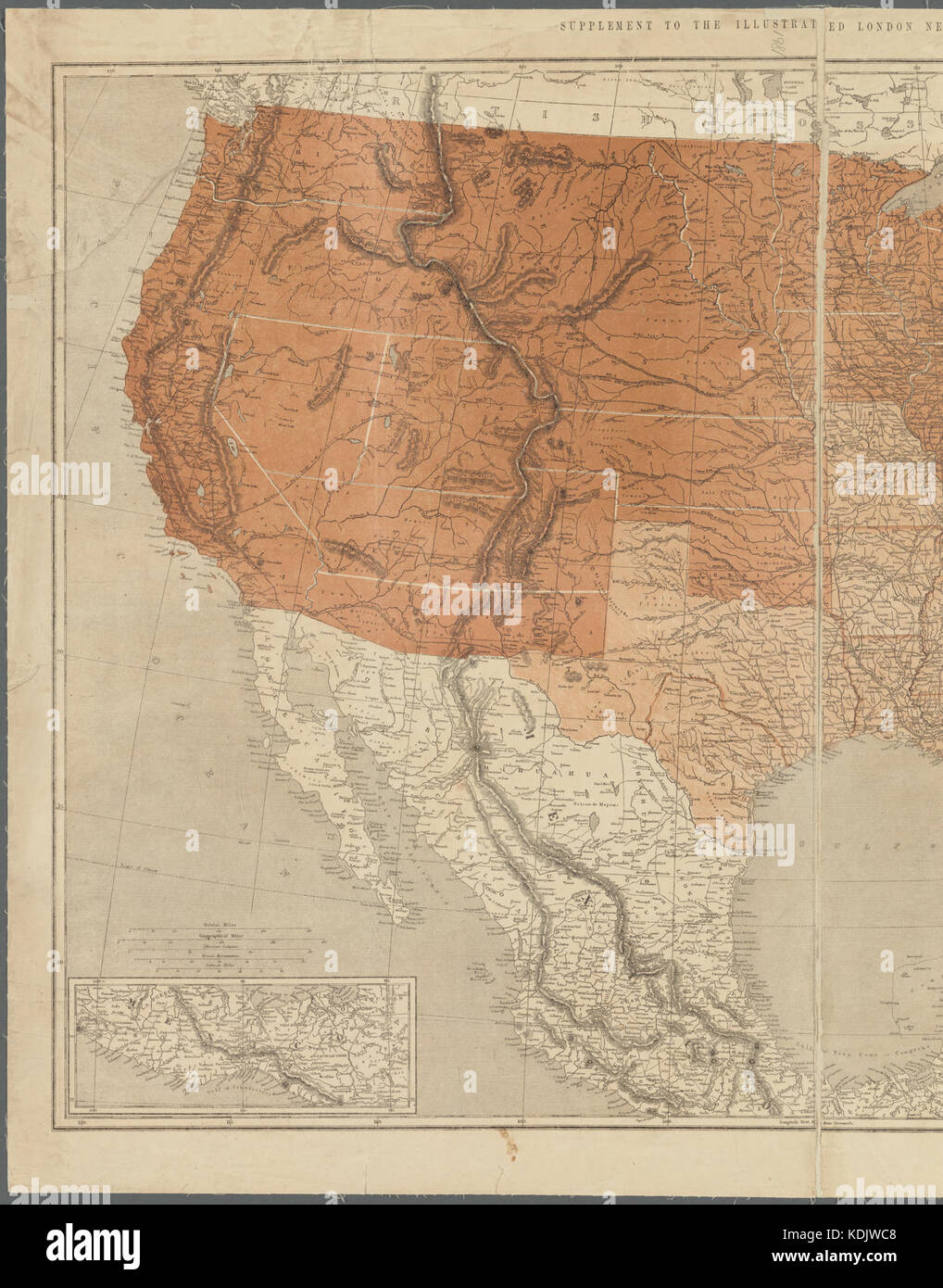 Map of the United States of North America Upper Lower Canada New