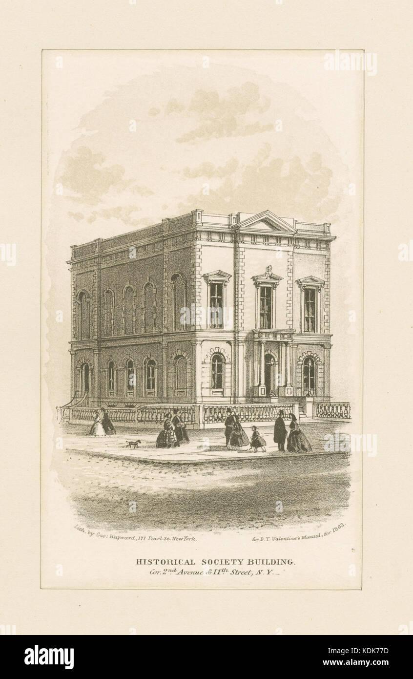 Historical Society Building (NYPL b13476047 420997) - Stock Image