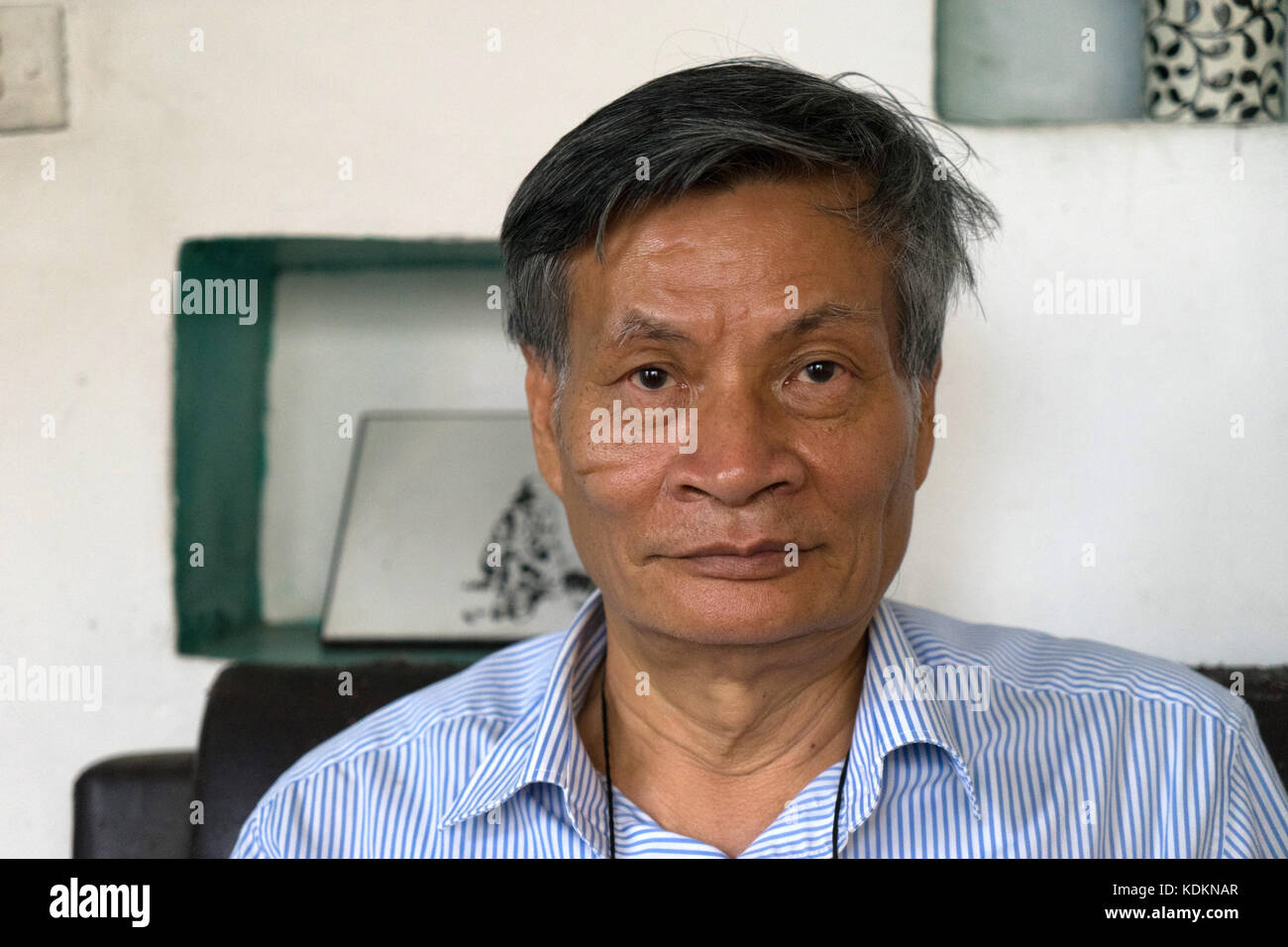 Hanoi, Vietnam. 10th May, 2016. ARCHIVE - Archival material shows Nguyen Quang A, retired economist and entrepreneur - Stock Image