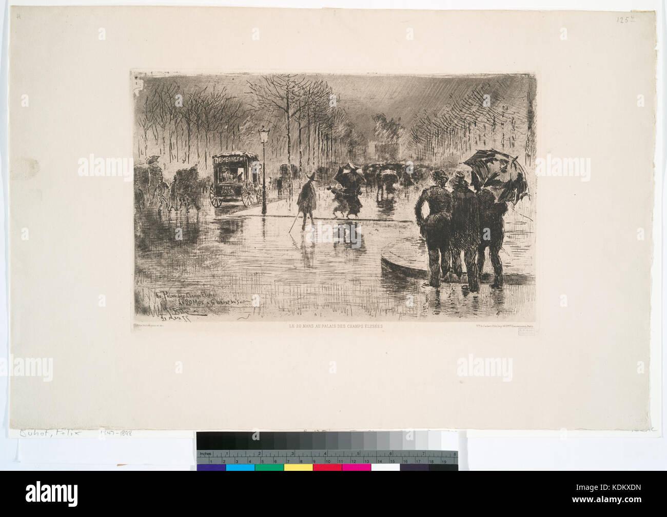 Le retour des artistes (NYPL b12391416 498462) - Stock Image