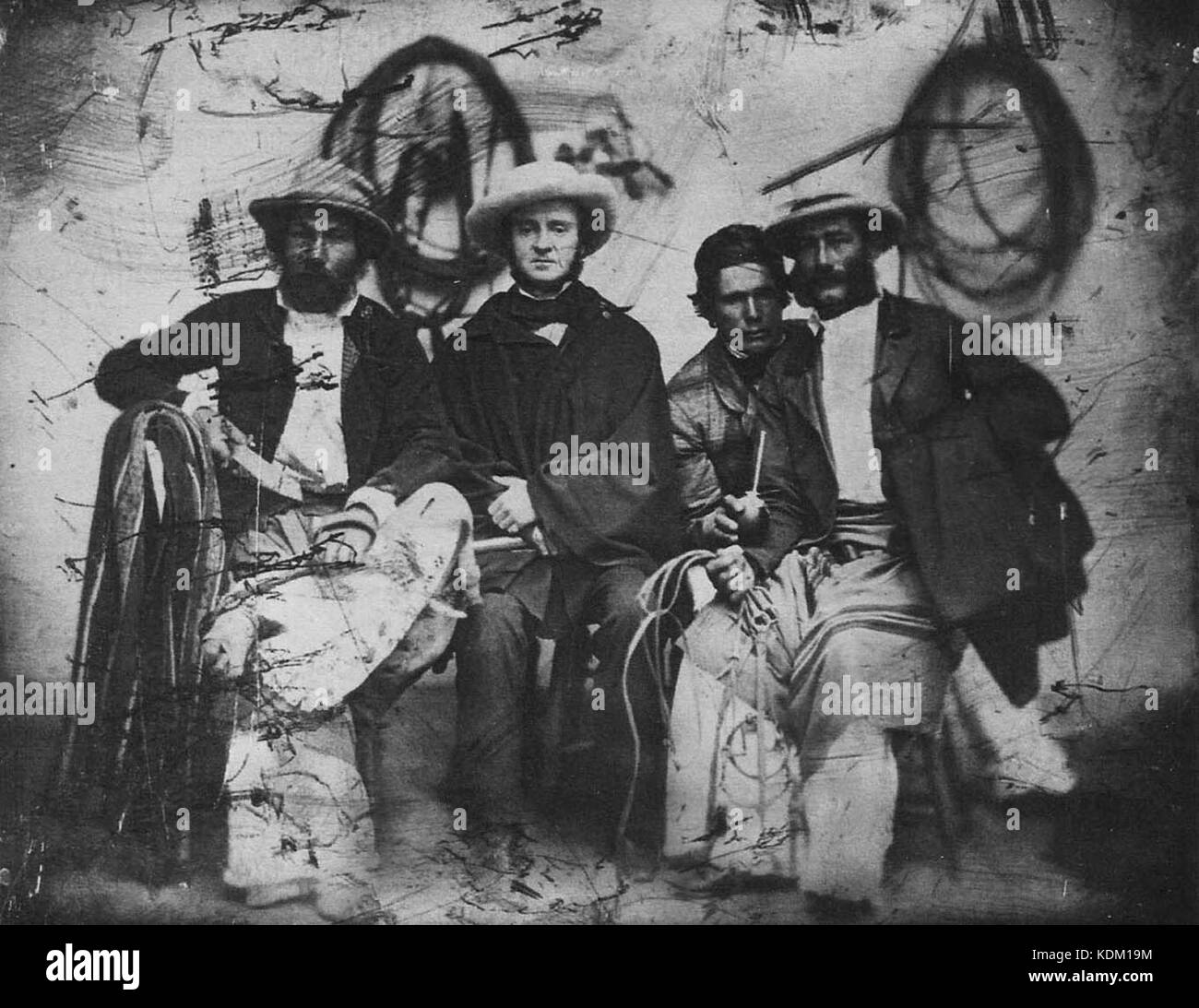 Hombres campo buenos aires 1860 - Stock Image