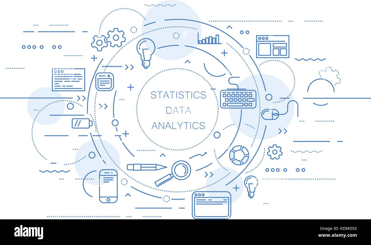 Website analytics and data statistics abstract design - Stock Image