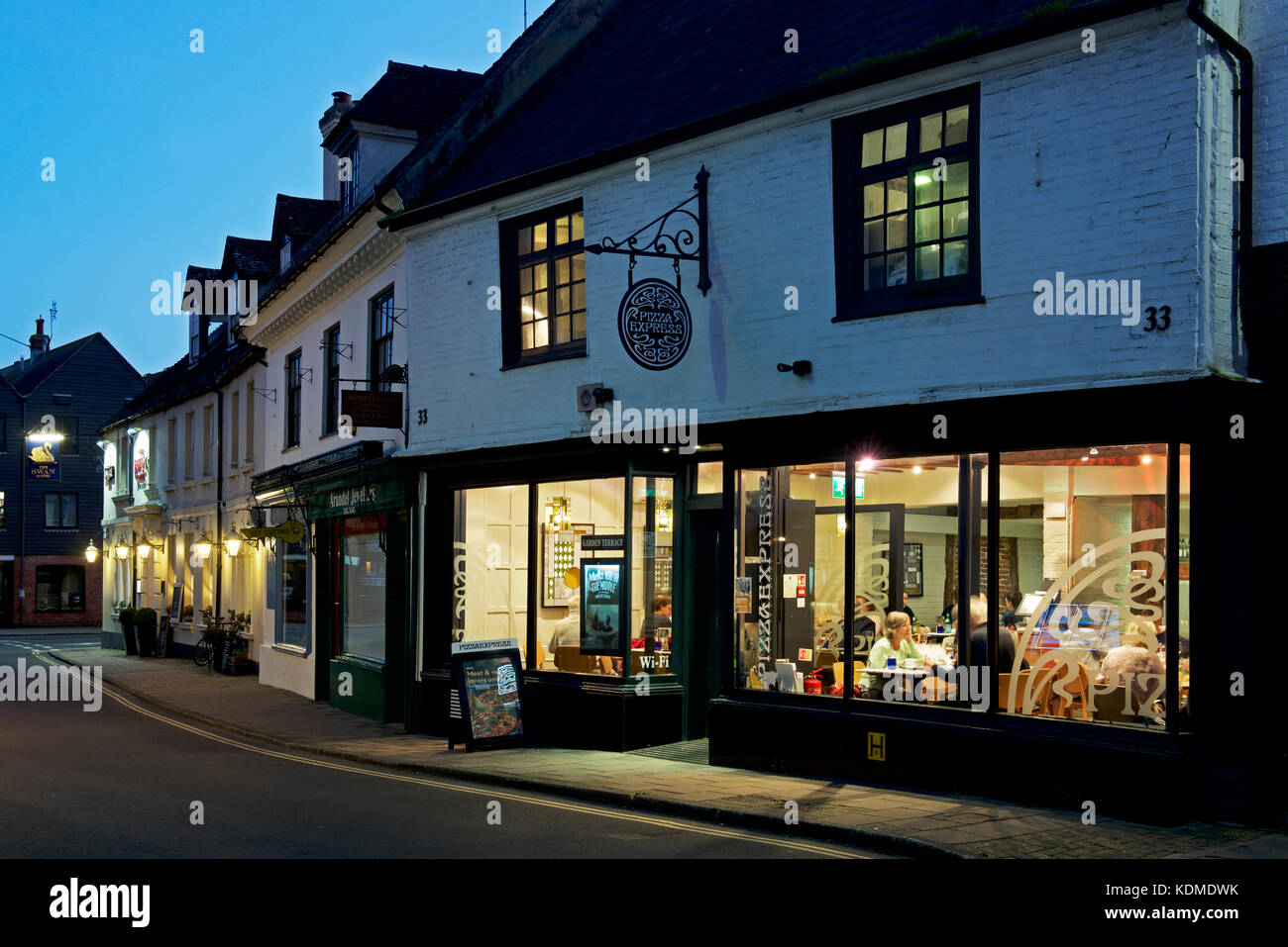 Pizza Express Restaurant Arundel West Sussex England Uk