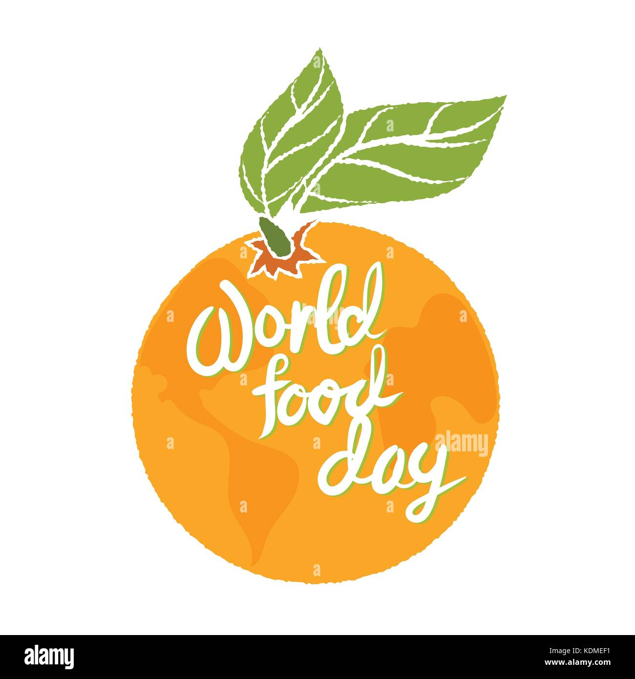 World food Day in orange for banner, holiday concept-Vector Illustration. - Stock Image