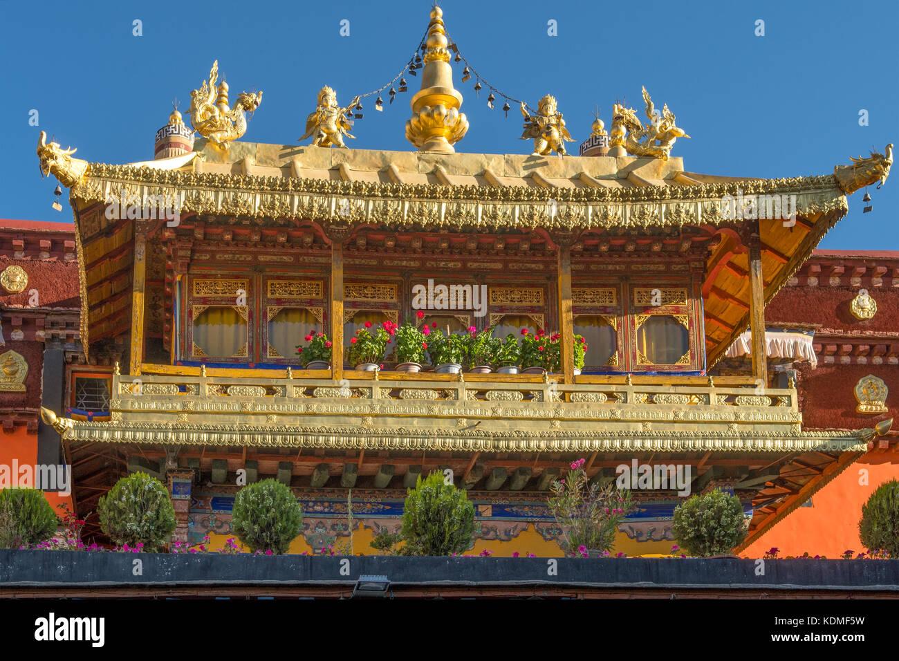 Jokhang Temple, Lhasa, Tibet, China - Stock Image
