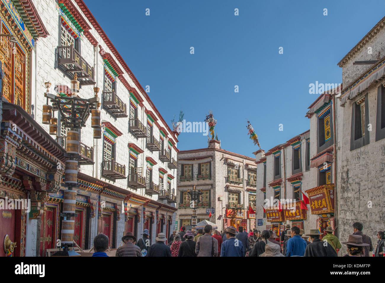 Barkhor Street, Lhasa, Tibet, China - Stock Image
