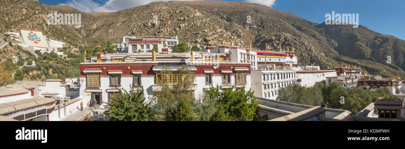 Drepung Monastery, near Lhasa Panorama, Tibet, China - Stock Image