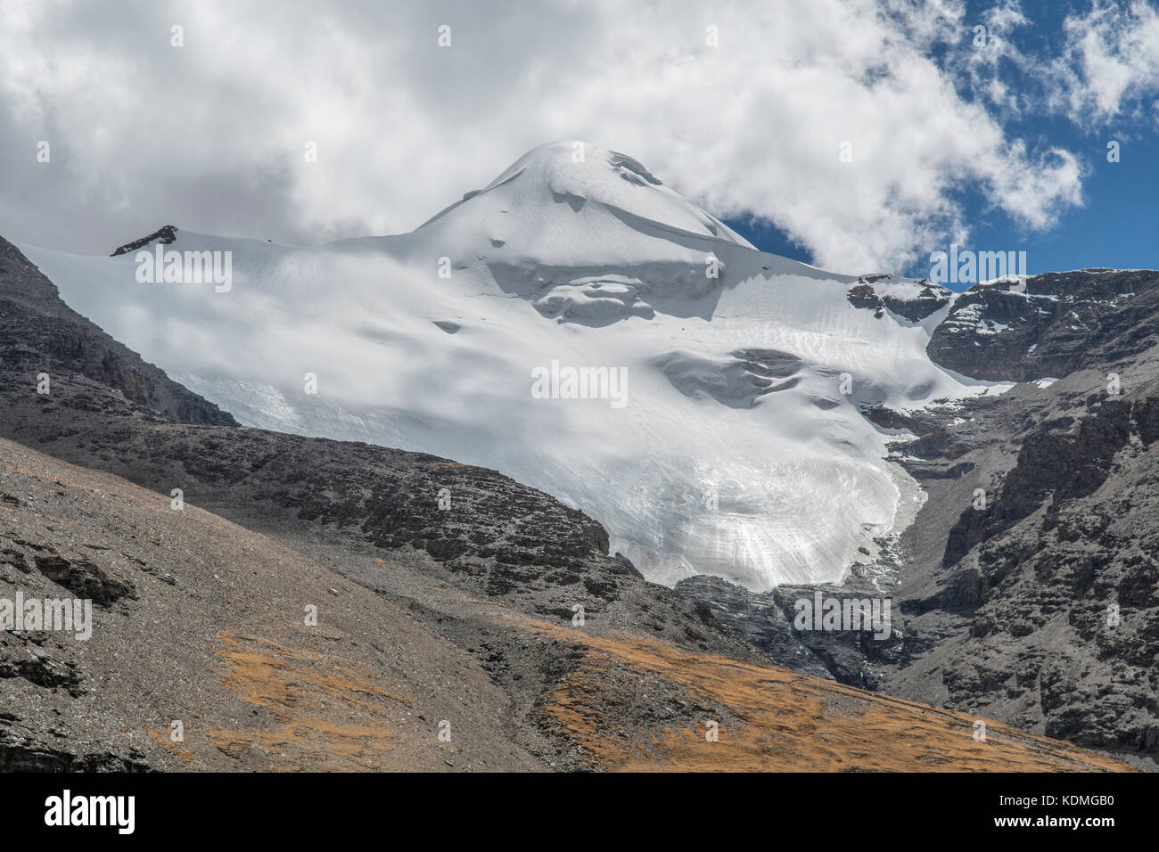 Glacier from Karola Pass, Shannan, Tibet, China - Stock Image