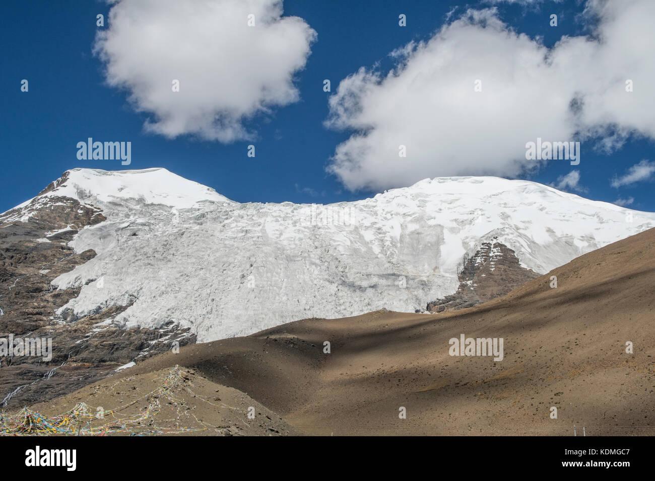 Karola Glacier, Shannan, Tibet, China - Stock Image