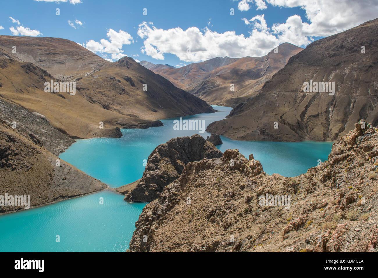 Yamdrok Lake, Shannan, Tibet, China - Stock Image