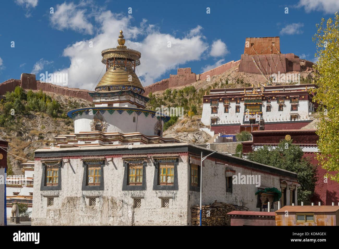 Palcho Monastery, Gyantse, Tibet, China - Stock Image