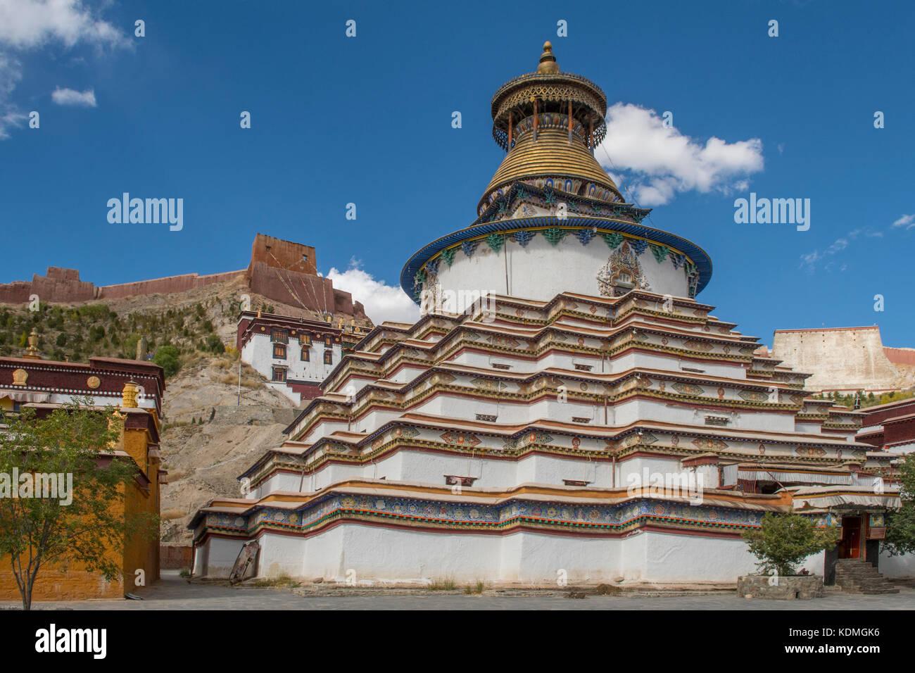 Kumbum Stupa at Palcho Monastery, Gyantse, Tibet, China - Stock Image