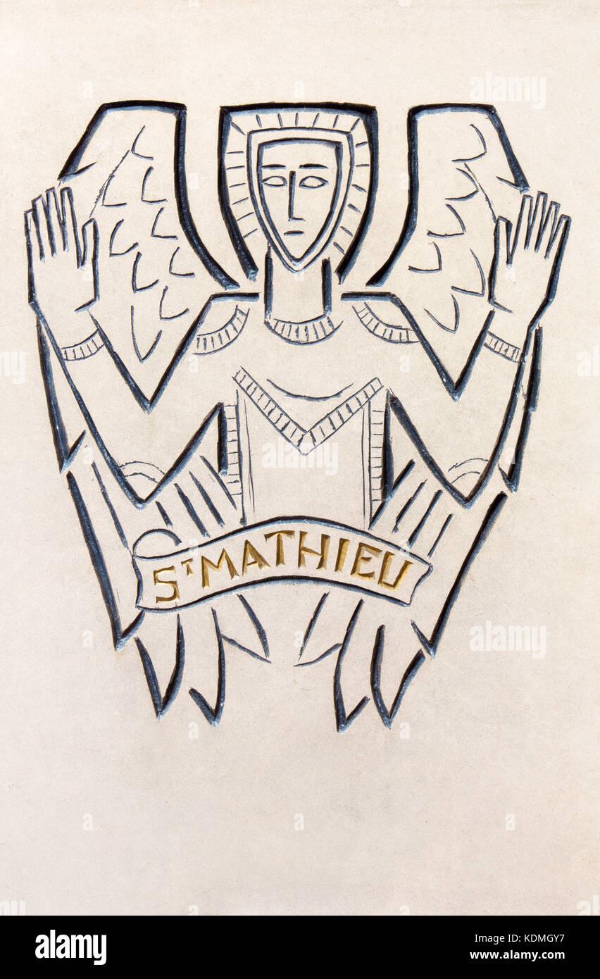 Symbol Of St Matthew The Evangelist Stock Photos Symbol Of St