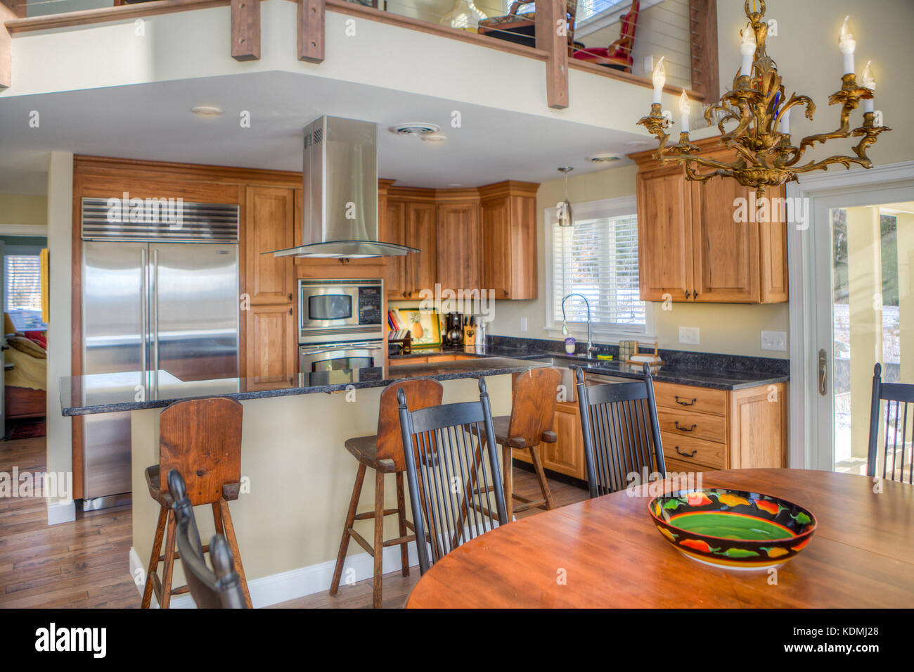 Stainless Steel Appliances In A Modern, Upscale Kitchen In Vermont, USA.