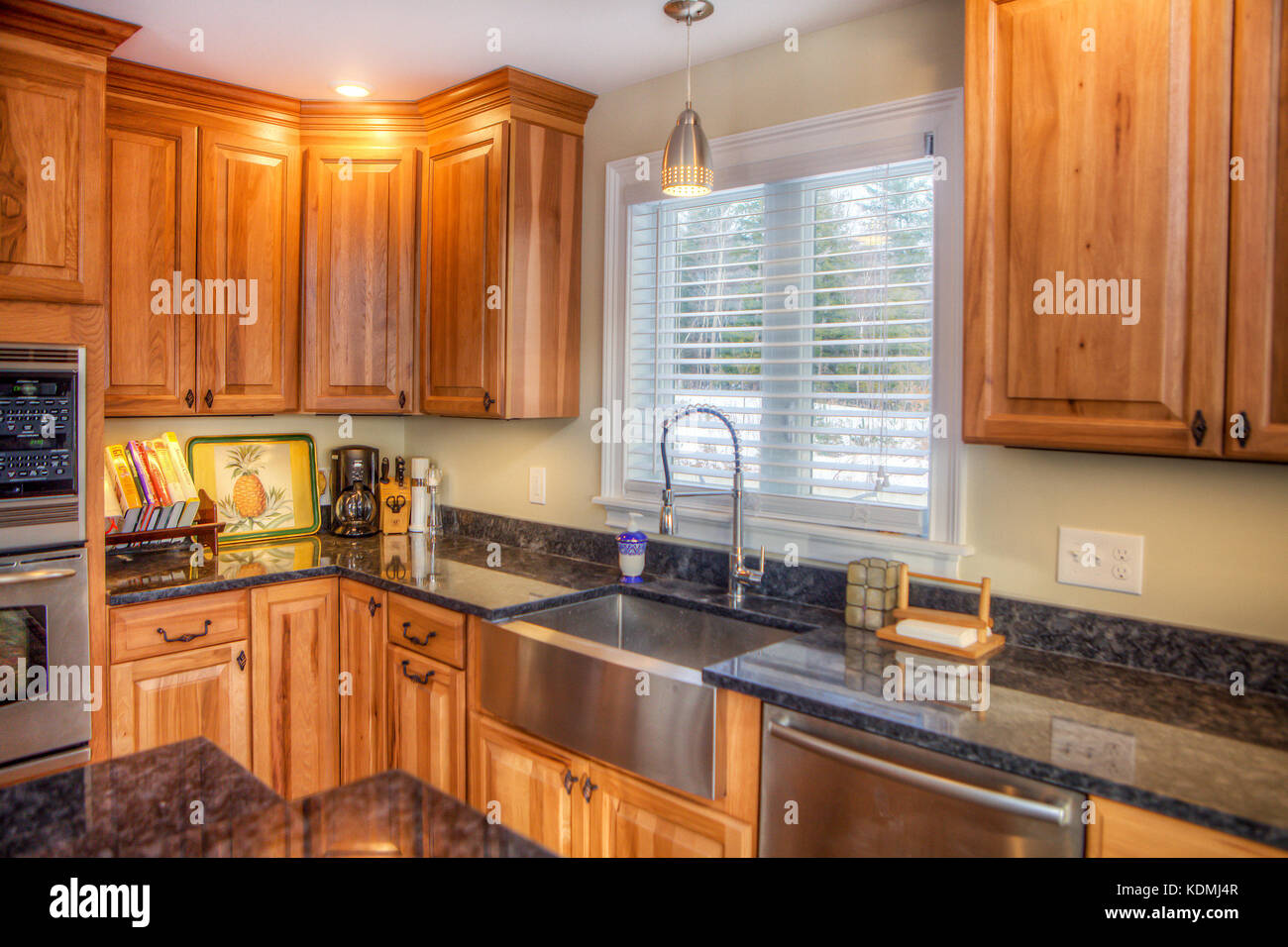 Stainless Steel Appliances In A Modern, Upscale Kitchen In Vermont Stock  Photo: 163337127   Alamy
