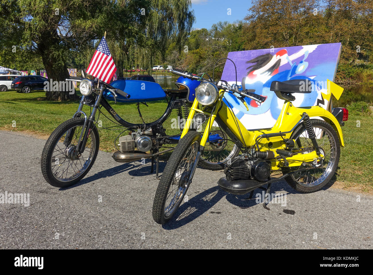 Mopeds, Puch magnum and Puch Maxi classic mopeds, United